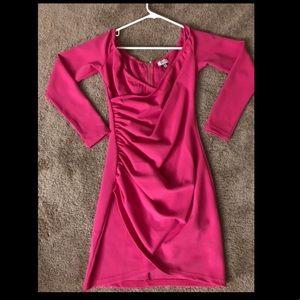 Hor Pink Cocktail Dress Size Medium